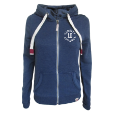 Dakota Ladies Lightweight Zipped Hoodie, Authentic 10